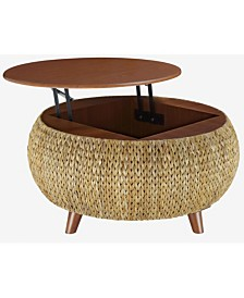 Bali Breeze Round Coffee Table, Quick Ship