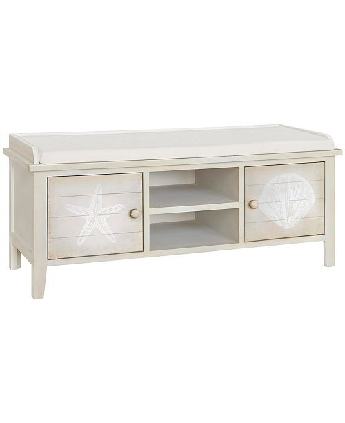 Gallerie Decor Shelburne Storage Bench, Quick Ship