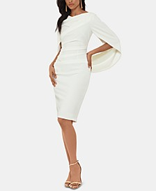 Caped Sheath Dress