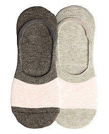 Lemon Women's 2-Pack Silky Colorblock Sock Liner, Online Only