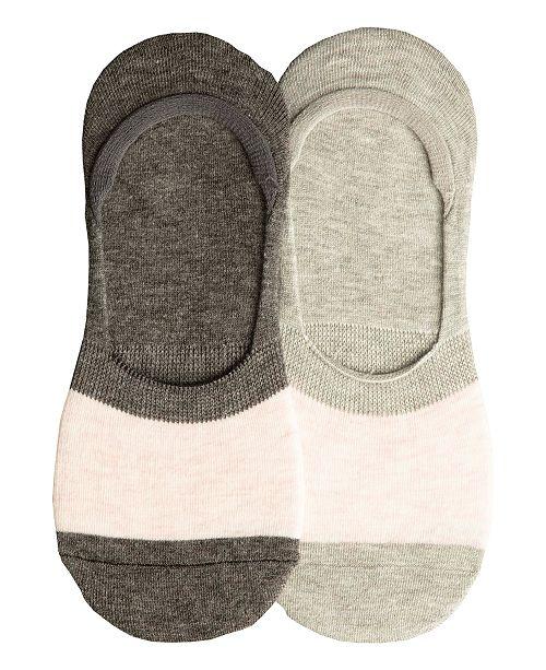Lemon Women's 2 Pack Silky Colorblock Sock Liner, Online Only
