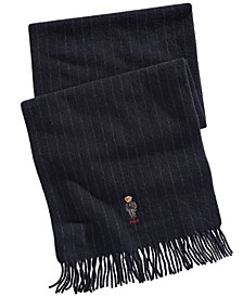 Men's Striped Bear Scarf