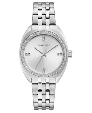 Designed by Bulova Women's Stainless Steel Bracelet Watch 33mm