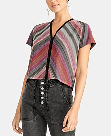 RACHEL Rachel Roy Mariposa Metallic V-Back Top