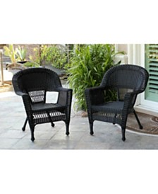 Jeco Wicker Chair without Cushion - Set of 2