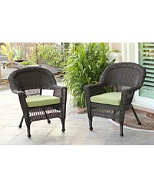 Jeco Wicker Chair with Cushion