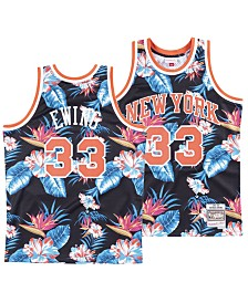 Mitchell & Ness Men's Patrick Ewing New York Knicks Floral Swingman Jersey