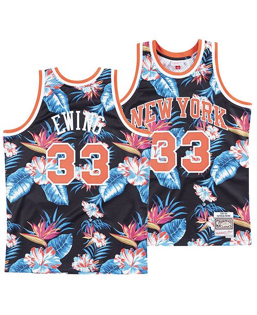 brand new 40c93 7a60f Men's Patrick Ewing New York Knicks Floral Swingman Jersey