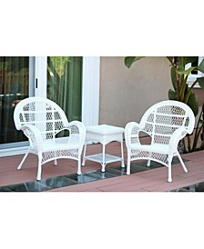 3 Piece Santa Maria Wicker Chair Set without Cushion