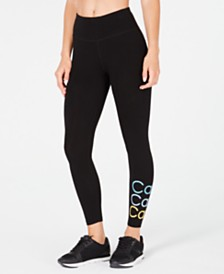 Calvin Klein Performance Stacked-Logo High-Waist Leggings
