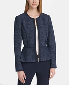 DKNY Zip-Front Contrast Jacket