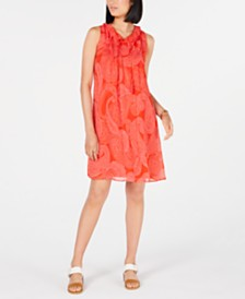 Tommy Hilfiger Tassel-Tie Shift Dress, Created for Macy's