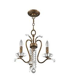 Serafina 3-Light Convertible Mini Chandelier/Ceiling Mount