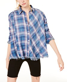 Free People Seeking Starlight Plaid Shirt