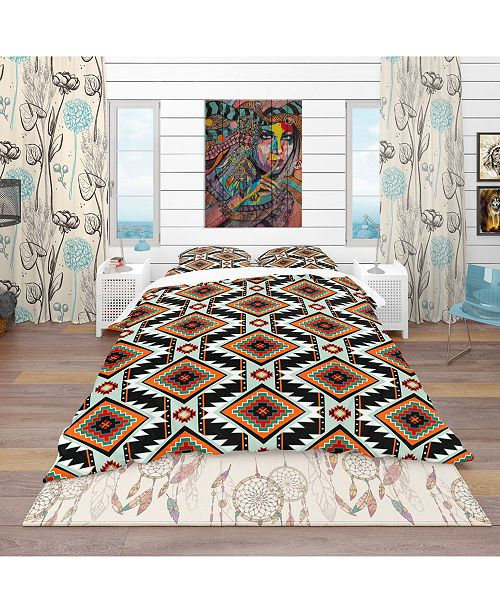 Design Art Designart 'First Nations Pattern' Southwestern Duvet Cover Set - Twin