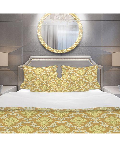 Design Art Designart 'Floral Pattern' Mid-Century Modern Duvet Cover Set - Queen