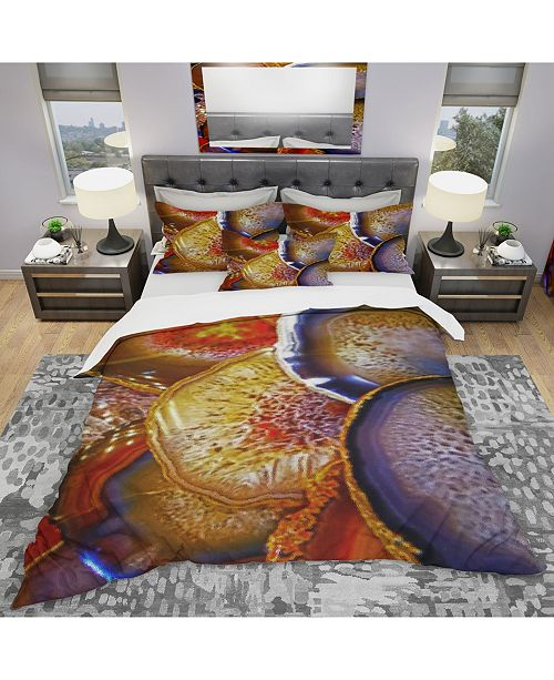 Design Art Designart 'Energy Stones Polished In Flat Shape' Modern and Contemporary Duvet Cover Set - Queen