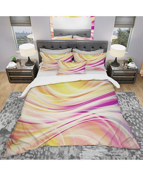 Design Art Designart 'Candy Stripes' Modern and Contemporary Duvet Cover Set - Queen