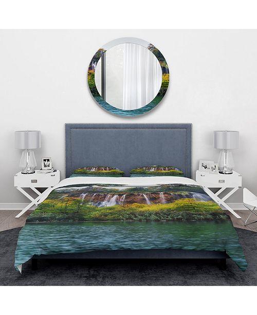 Design Art Designart 'Plitvice Lakes Croatia' Traditional Duvet Cover Set - Twin