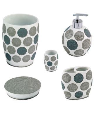 Dotted Circles 5-Pc. Bath Accessory Set