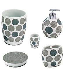 Dotted Circles 5-Pc. Bath Accessory Set