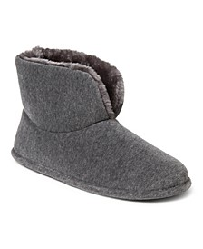 Women's Velour Bootie Slippers, Online Only