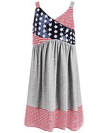 Little Girls Stars & Stripes Surplice Dress