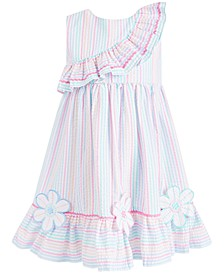 Little Girls Striped Seersucker Dress