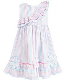 Little Girls Striped Seersucker Dress