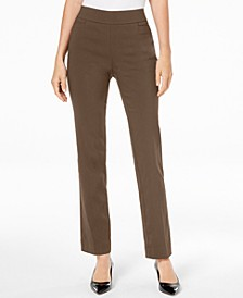 Pull-On Tummy Control Slim-Leg Pants, Short Length, Created for Macy's