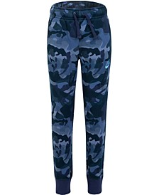 Little Boys Camo-Print Fleece Jogger Pants