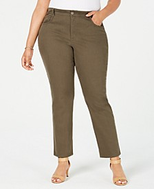 Plus & Petite Plus Size Tummy-Control Slim-Leg Jeans, Created for Macy's