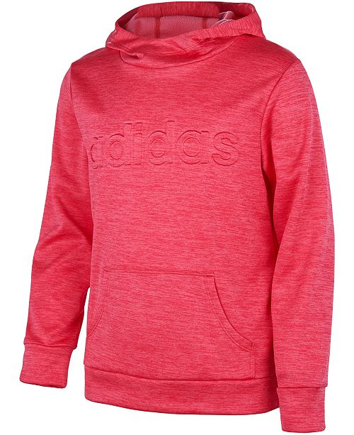 adidas Little Girls Embossed-Logo Hoodie