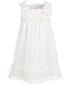 Toddler Girls Lace & Chiffon Bow-Shoulder Dress