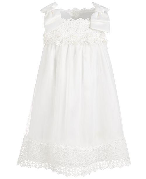 Bonnie Jean Toddler Girls Lace & Chiffon Bow-Shoulder Dress