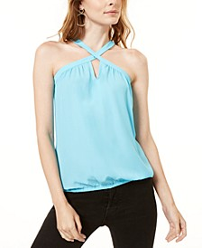 INC Woven Keyhole Halter Top, Created for Macy's