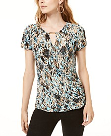 INC Embellished Surplice Top, Created for Macy's