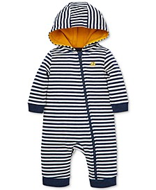 Baby Boys Cotton Striped Baby French Terry Coverall