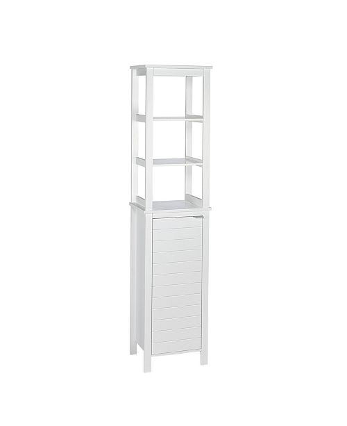 RiverRidge Home Madison Collection Linen Tower with Open Shelves