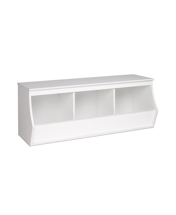 Prepac Monterey Stackable 3-Bin Storage Cubbie