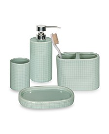 DKNY Fine Grid Bath Accessories Collection