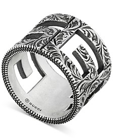 Gucci Decorative G Cube Ring in Sterling Silver, YBC551917001023