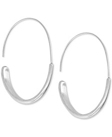 Large Modern Hoop Earrings 2-1/8""