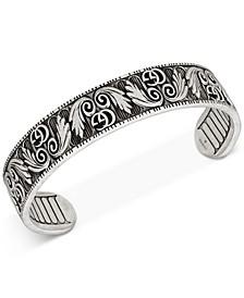 Men's Patterned Logo Cuff Bracelet