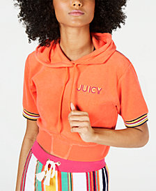 Juicy Couture Micro-Terry Track Hoodie