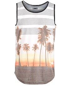 Striped Palm Men's Tank