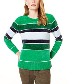 Striped Metallic Chenille Sweater, Created For Macy's