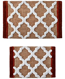 Tuscany Tiles 2-Pc. Tufted Bath Rug Set