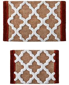 Sunham Tuscany Tiles 2-Pc. Tufted Bath Rug Set