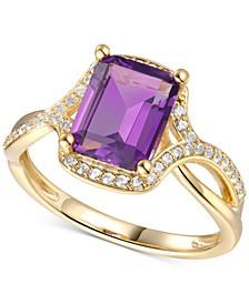 Amethyst (2-1/10 ct. t.w.) & Diamond (1/4 ct. t.w.) in 14k Gold
